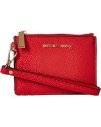 MICHAEL Michael Kors Michael Mercer Pebble Leather Coin Purse - Red