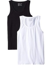Pact Organic Cotton Stretch-fit Tank Top Two-pack - Black