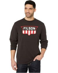 Filson Long Sleeve Outfitter Graphic T-shirt - Gray