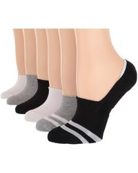 Hue - Sneaker Liner With Cushion 6-pair Pack - Lyst
