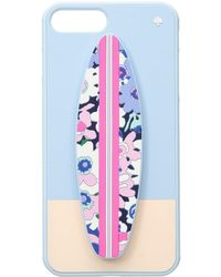 Kate Spade - Silicone Surfboard Stand Phone Case For Iphone 8 Plus - Lyst