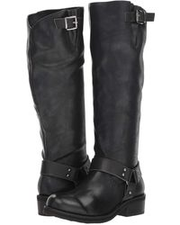03ab450da Lyst - Tommy Hilfiger Gallop 2 Almond Toe Knee High Riding Boots in ...