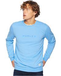 Hurley - Atlas Boxed Crew (university Blue) Men's Fleece - Lyst