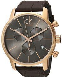 Calvin Klein - City Watch - K2g276g3 (cool Grey/brown) Watches - Lyst