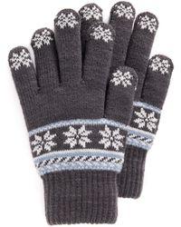 Muk Luks Lined Touchscreen Gloves - Gray