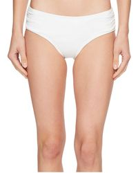 MICHAEL Michael Kors - Shirred Bikini Bottoms - Lyst