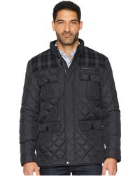 Cole Haan - Mixed Media Multi-pockets Quilted Jacket (black) Men's Coat - Lyst