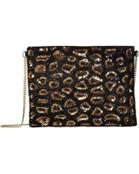 San Diego Hat Company - Bsb3548 Sequin Animal Print Clutch With Gold Chain Strap (black) Clutch Handbags - Lyst