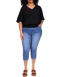 MICHAEL Michael Kors - Plus Size Solid Smocked Blouse Clothing - Lyst