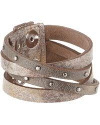 Leatherock - B453 (silver) Bracelet - Lyst
