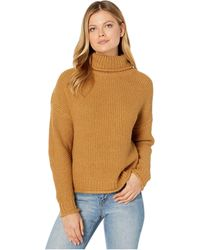 Kut From The Kloth Hailee Long Sleeve Turtleneck Knit Sweater - Brown