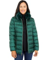 MICHAEL Michael Kors Belted Down With Faux Fur Collar M824839bnm - Green