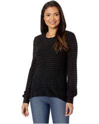 Lucky Brand - Stripe Chenille Top (wine Tasting) Women's Clothing - Lyst