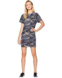 Alternative Apparel - Gym Rat Sweatshirt Dress (slate Camo) Women's Dress - Lyst