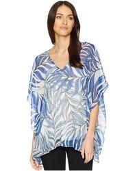 NYDJ - Chiffon Caftan Popover (paisley Mosaic Vanilla) Women's Clothing - Lyst