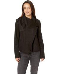 Anne Klein - Asymmetrical Front Jacket (anne Black) Women's Coat - Lyst