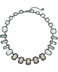 French Connection - Stone Collar Necklace 17 (aqua) Necklace - Lyst