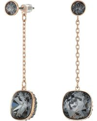 Swarovski - Lattitude Chain Pierced Earrings - Lyst