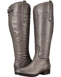 Sam Edelman Penny 2 Wide Calf Leather Riding Boot - Black