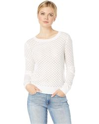 Lyst American Eagle Ae Eyelet Balloon Sleeve Pullover In Brown