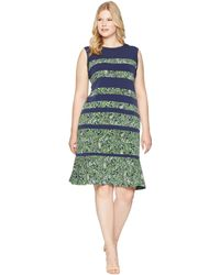 MICHAEL Michael Kors - Plus Size Paisley Paneled Sleeveless Dress (true Navy/green Apple Multi) Women's Dress - Lyst