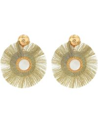 Lilly Pulitzer - Fan-tastic Earrings (gold Metallic) Earring - Lyst