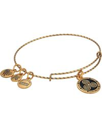 ALEX AND ANI - Embossed Paint Charm, Triskelion Bangle - Lyst