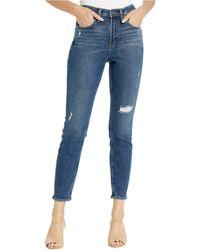 Silver Jeans Co. Frisco High-rise Skinny Jeans In Indigo L28104sfv319 - Blue