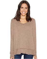 Mod-o-doc | Luxe Sweater Knit Forward Seam Long Sleeve Sweater | Lyst