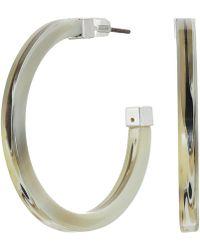 Lauren by Ralph Lauren - Horn Hoop Earrings (silver) Earring - Lyst
