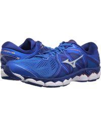77c7d85104d9 Mizuno - Wave Sky 2 (directoire Blue/cherry Tomato) Men's Running Shoes -