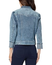 Liverpool Jeans Company Denim Jacket With Cuffed Sleeve - Blue