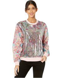Prabal Gurung Floral Sequin/floral Jacquard Sweatshirt - Multicolor