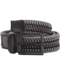 Torino Leather Company 35 Mm Italian Woven Cotton Leather - Gray