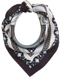 Tory Burch Small Naive Forest Neckerchief - Blue