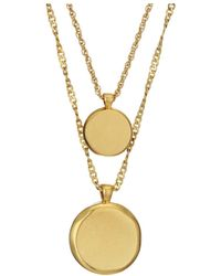 Madewell Coin Necklace Set - Metallic