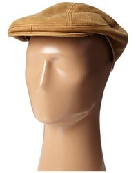 Stetson - Distressed Leather Ivy Cap - Lyst