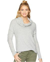 Three Dots - Long Sleeve Funnel Neck Tunic (granite) Women's Sweater - Lyst