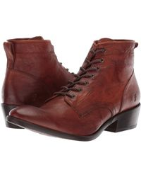 Frye Carson Lace Up - Brown