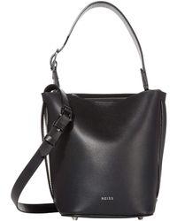 Reiss Hudson Mini Bucket Bag - Black