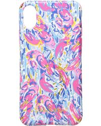 Lilly Pulitzer - Iphone X Classic Case (cosmic Coral Cracked Up) Cell Phone Case - Lyst