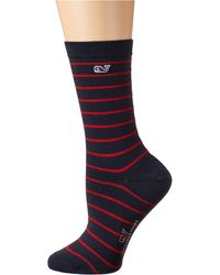 Vineyard Vines Break Stripe Sock - Red