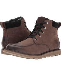 Sorel - Madson Moc Toe Waterproof (bruno/black) Men's Waterproof Boots - Lyst