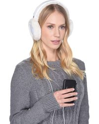 UGG - All Weather Water Resistant Sheepskin Earmuff With Tech Option (white) Cold Weather Hats - Lyst
