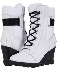 Sorel Joan Uptown Mid Lace - White