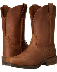 Ariat - Rambler (dusted Brown) Cowboy Boots - Lyst