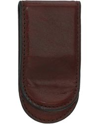 Bosca Old Leather Collection - Leather Covered Money Clip - Brown
