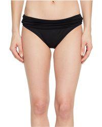 La Blanca - Island Goddess Shirred Waist Hipster Bottom (midnight) Women's Swimwear - Lyst