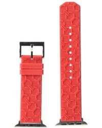 Tory Burch T-zag Leather Apple Watch Strap - Red