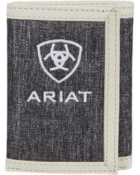 Ariat Embroidery Trifold Wallet Bags - Gray